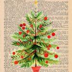 Free Christmas Dictionary Page Printable Christmas Tree Preview