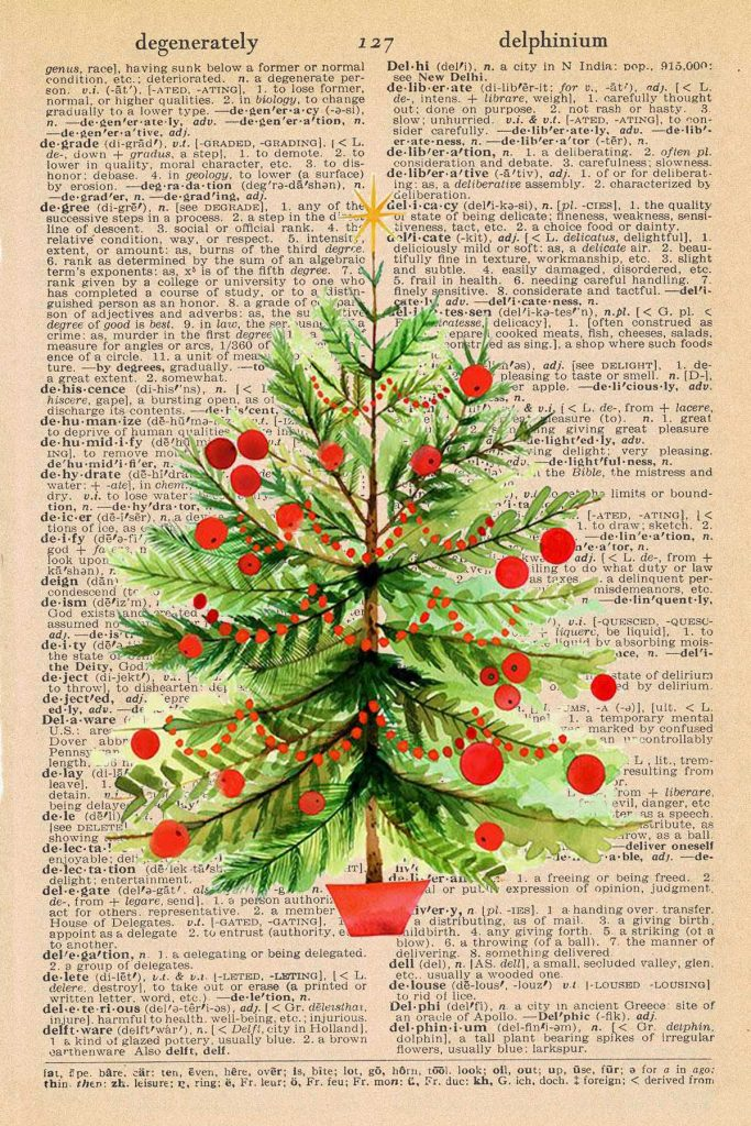 Free Christmas Dictionary Page Printable Christmas Tree Preview