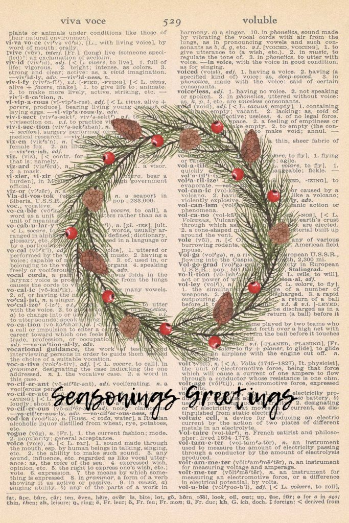 Free Christmas Dictionary Page Printable Wreath Preview