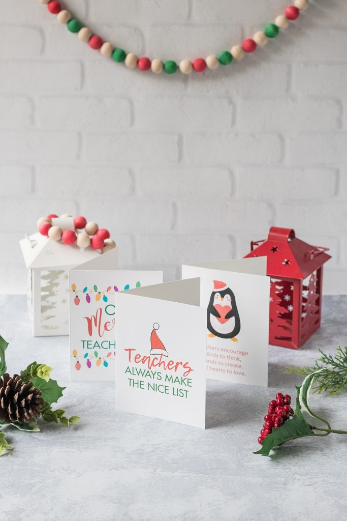 Free Printable Teacher Thank You Christmas Cards