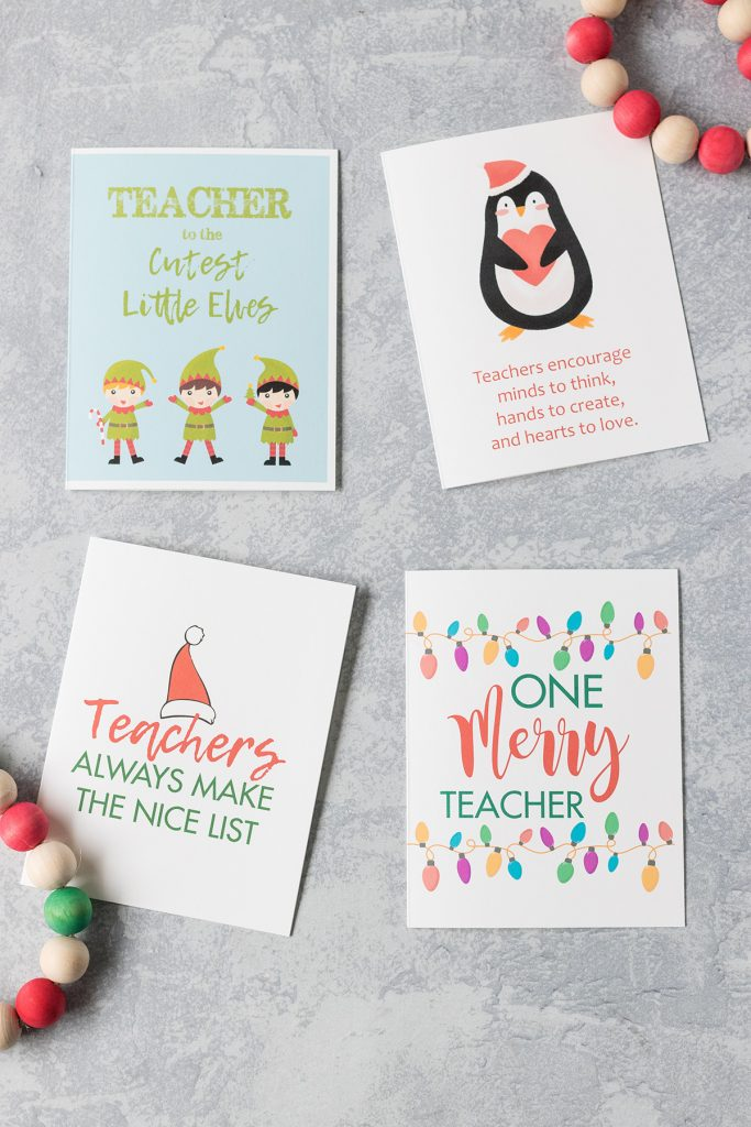 This is an image of Printable Cards for Teachers in school