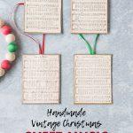Handmade Vintage Christmas Sheet Music Ornaments