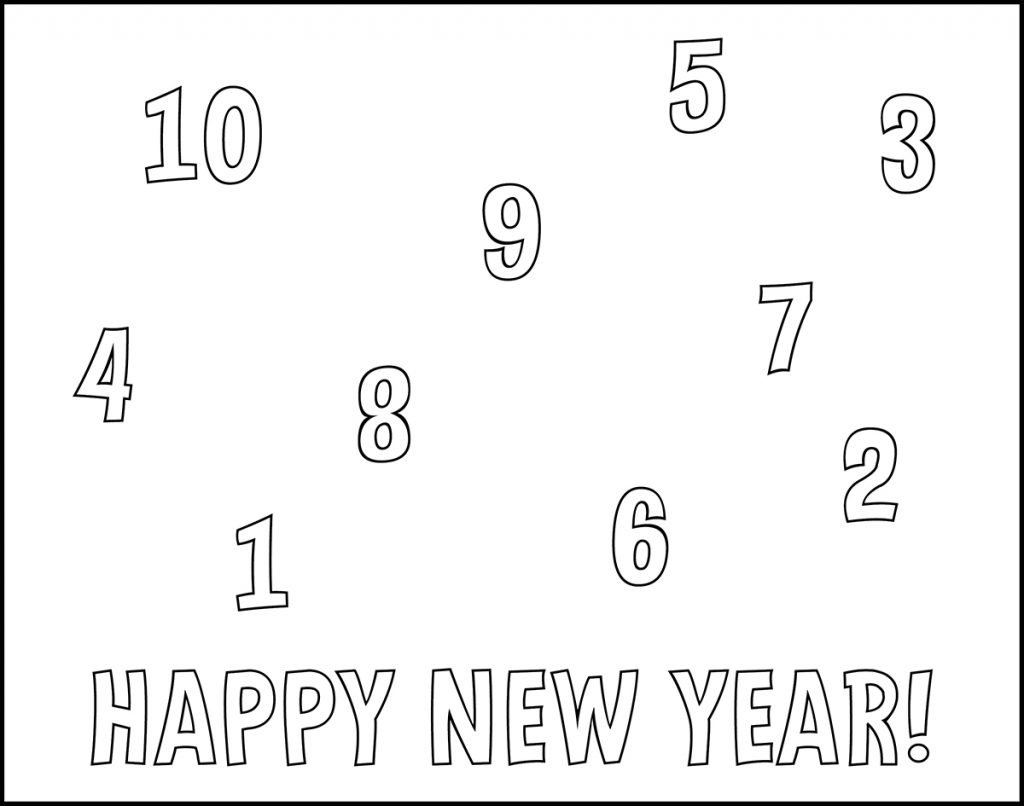 Happy New Year Countdown Printable New Year's Eve Placemat