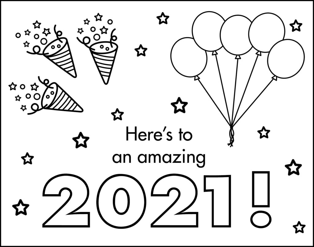 Here's to an Amazing 2021 New Year's Eve Placemat