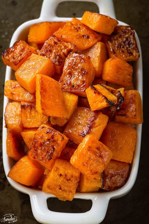 Maple Cinnamon Roasted Butternut Squash Life Made Sweeter