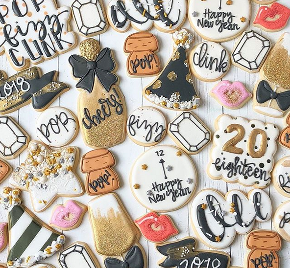 New Year's Eve Cookies The Cookie Kitchen on Instagram
