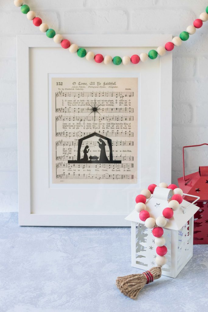 O Come All Ye Faithful Vintage Sheet Music Framed Wall Art