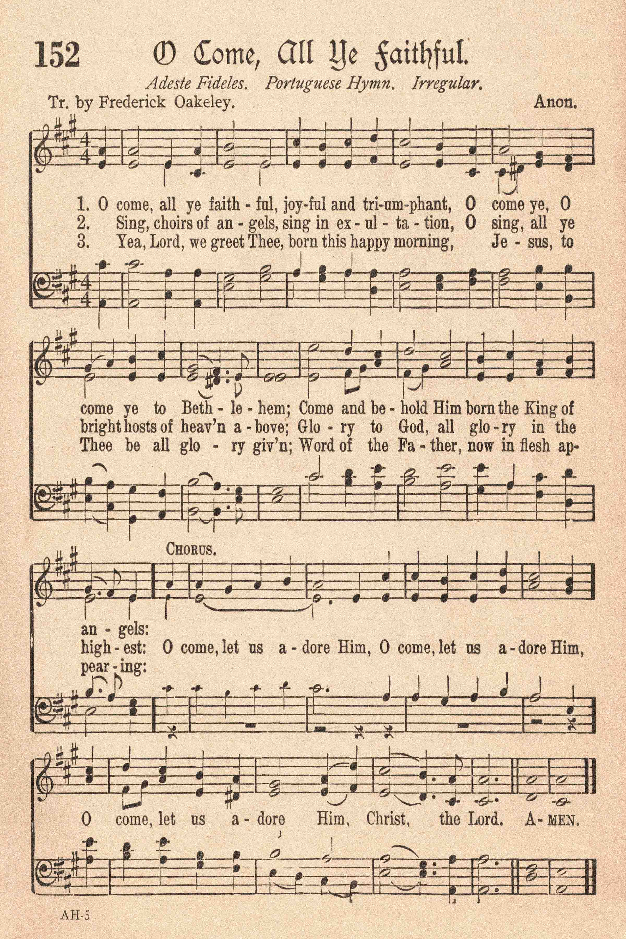 Free Printable Vintage Christmas Sheet Music Hymns Rose Clearfield