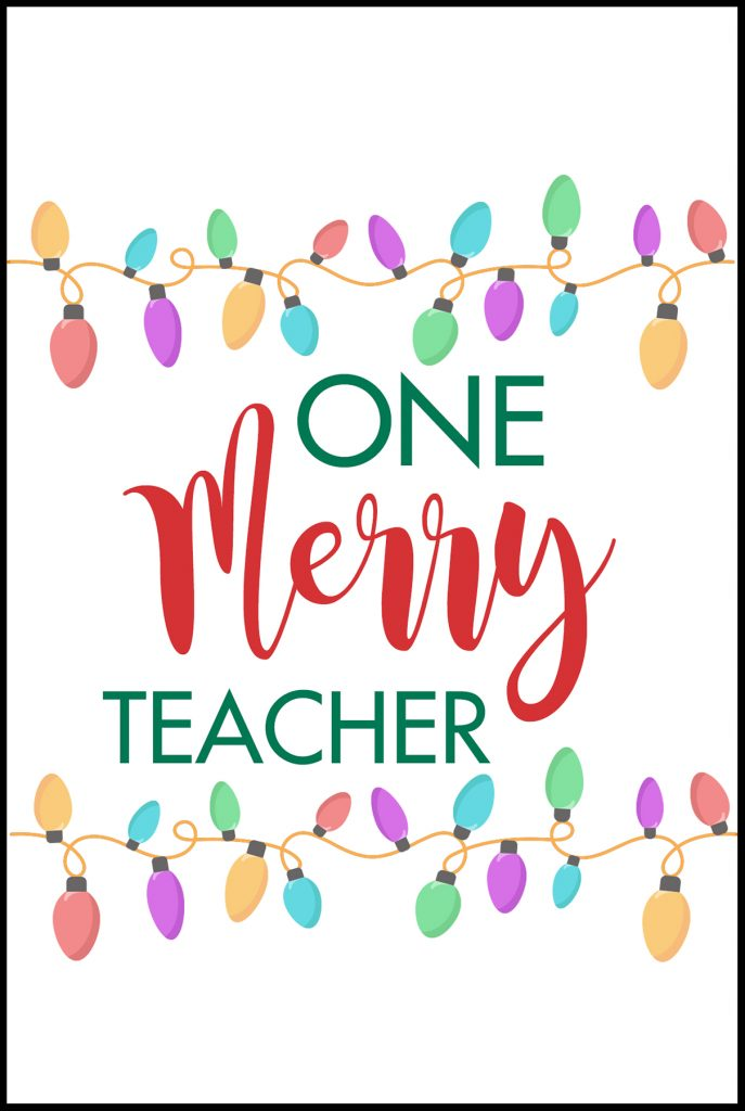 One Merry Teacher Card