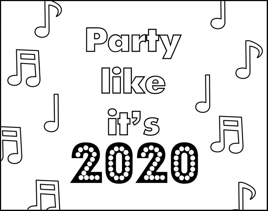 Party Like It's 2020 Printable New Year's Eve Placemat