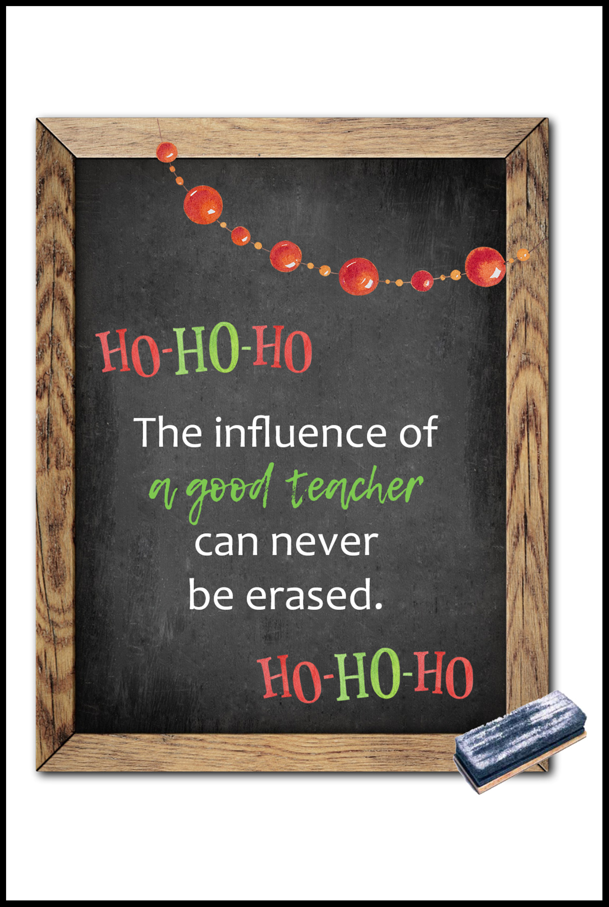 The Influence of a Good Teacher Can Never Be Erased Card