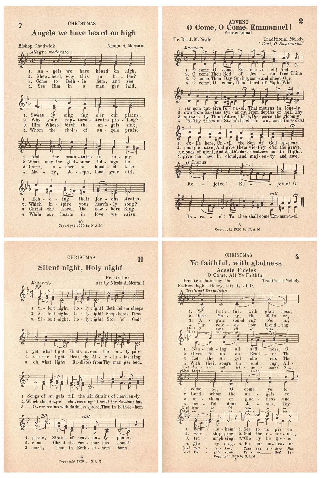 Vintage Christmas Sheet Music Collection