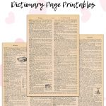 10 Free Valentine's Day Dictionary Page Printables