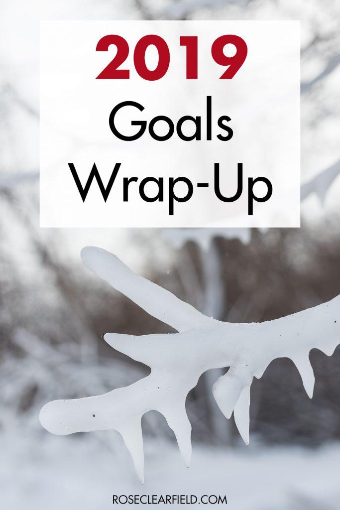 2019 Goals Wrap-Up