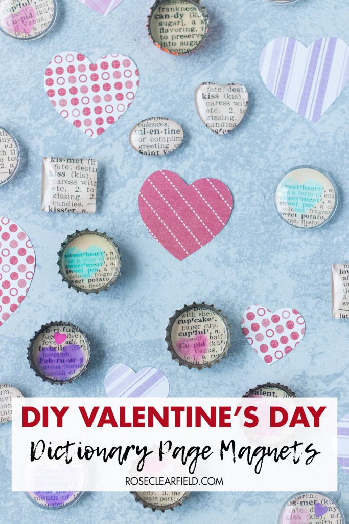 DIY Valentine's Day Dictionary Page Magnets