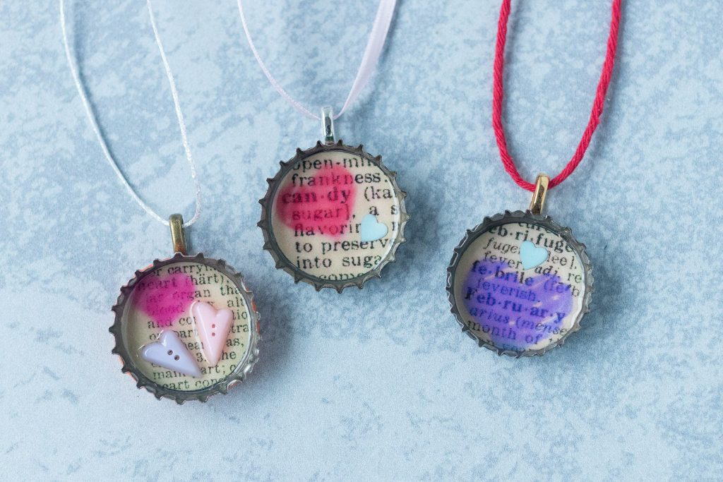 DIY Valentine's Day Dictionary Page Mini Ornaments