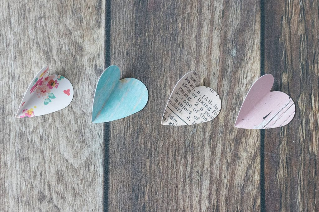 Valentine's Day Paper Heart Ornaments
