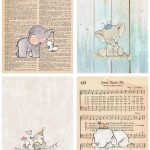 Elephant Nursery Decor Collage