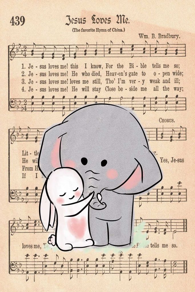 Elephant Nursery Decor Elephant and Rabbit Hugging
