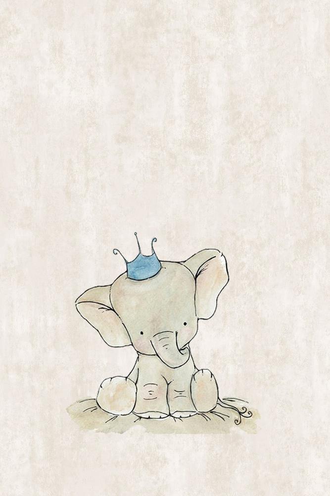 Elephant Nursery Decor With Crown