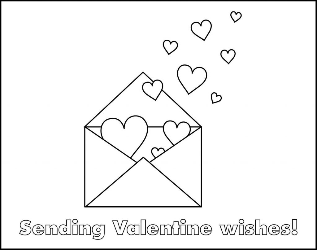 Envelope With Hearts Valentine's Day Placemat