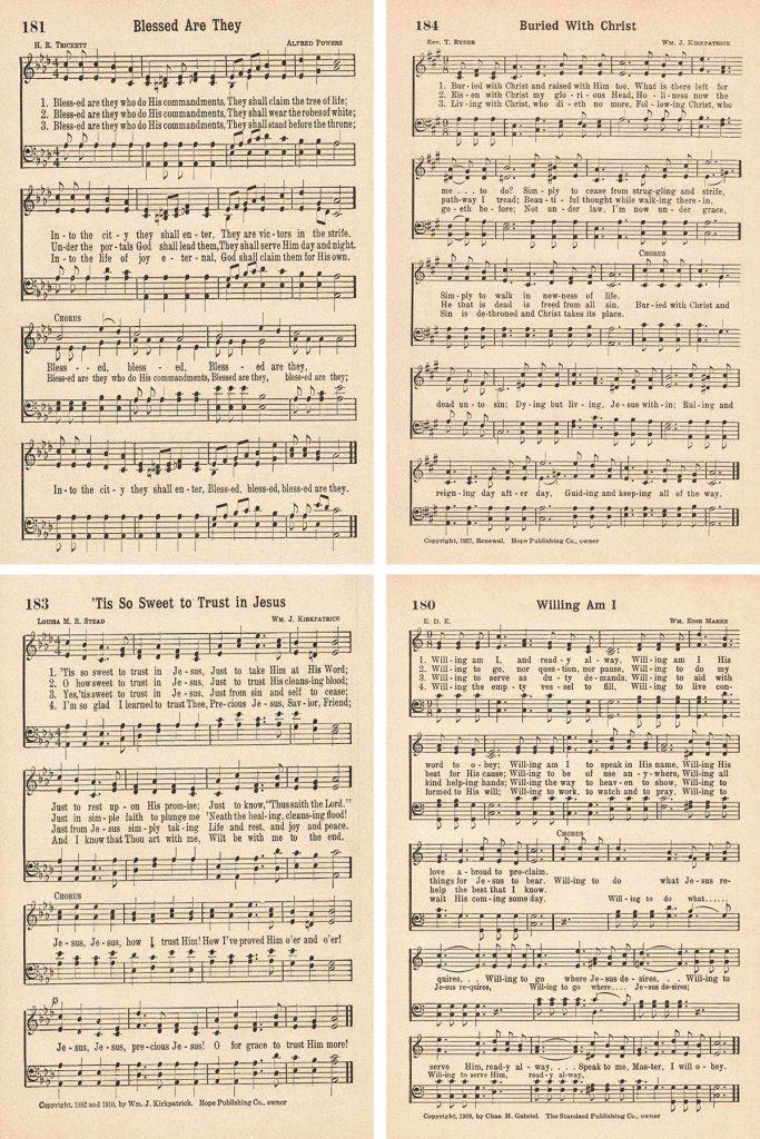 Favorite Hymns Baptism Collage