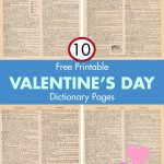 Free Printable Valentine's Day Dictionary Pages