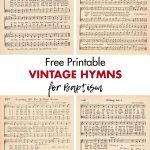 Free Printable Vintage Hymns for Baptism