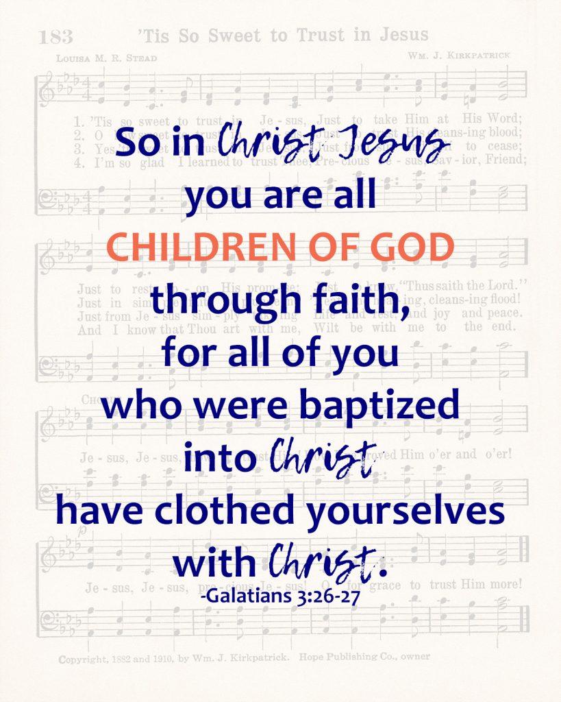 So In Christ Jesus Galatians Baptism Wall Art