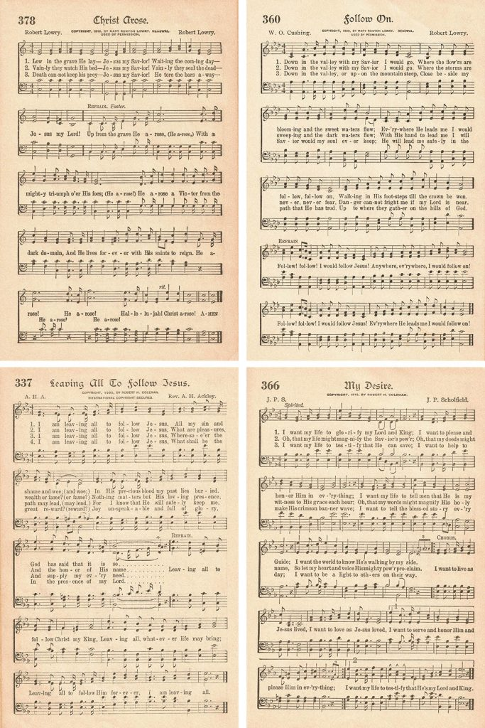 The American Hymnal Baptism Collage