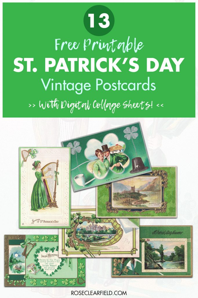 13 Free Printable St. Patrick's Day Vintage Postcards