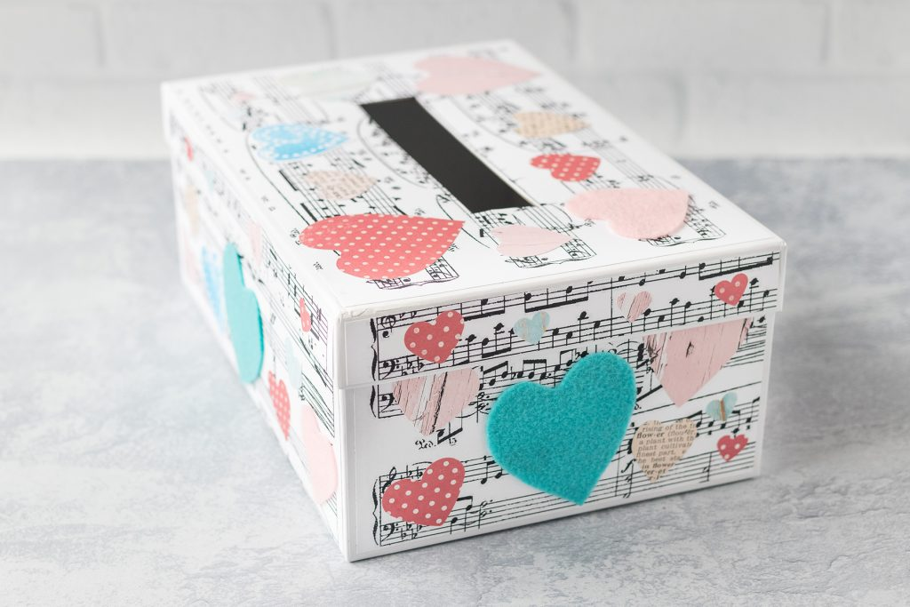 DIY Sheet Music Valentine's Day Box