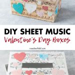 DIY Sheet Music Valentine's Day Boxes