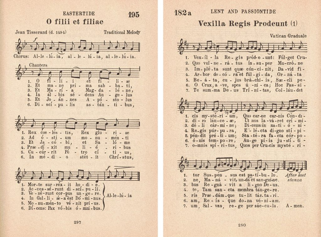 Easter Latin Hymns Collage