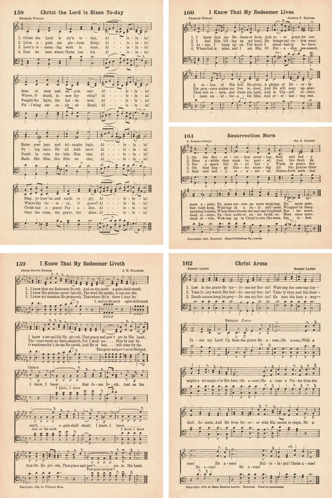 Favorite Hymns Easter Hymns Collage