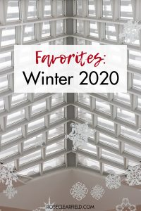 Favorites Winter 2020