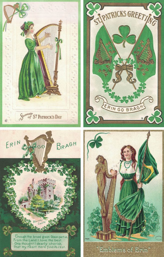 Free Printable St. Patrick's Day Vintage Postcards Collage