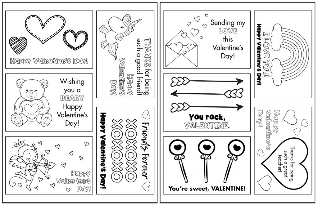 Free Printable Valentines Assorted Designs Sets Collage