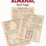 Free Printable Vintage Agricultural Almanac Book Pages