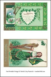Free Printable Vintage St. Patrick's Day Postcards Full Set Preview