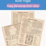 Free Vintage Farmers' Almanac Book Pages