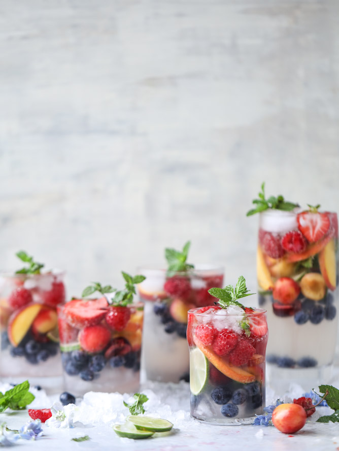 Rainbow Coconut Water Spritzers How Sweet Eats