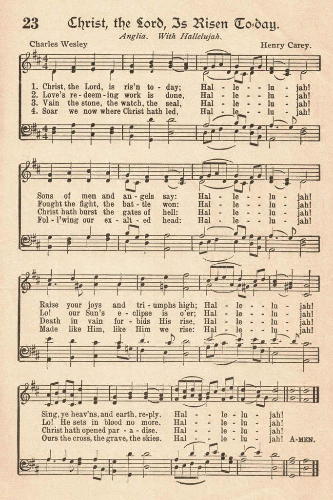 The American Hymnal Christ the Lord is Risen Today
