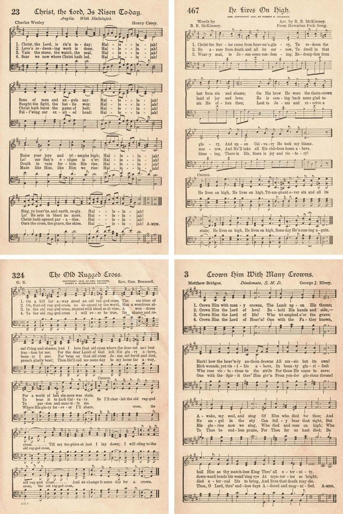 The American Hymnal Easter Hymns Collage