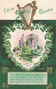 Vintage St. Patrick's Day Postcard Blarney Castle