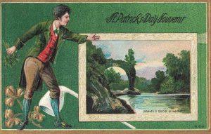 Vintage St. Patrick's Day Postcard Cromwell's Bridge