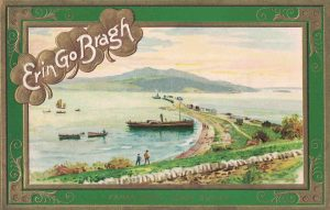 Vintage Postcard St. Patrick's Day Fahan Pier
