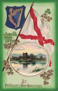 Vintage St. Patrick's Day Postcard Irish Castle