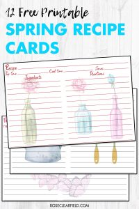 12 Free Printable Spring Recipe Cards