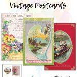 14 Free Printable Birthday Vintage Postcards